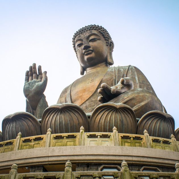 The Sitting Buddha statue of Hong Kong