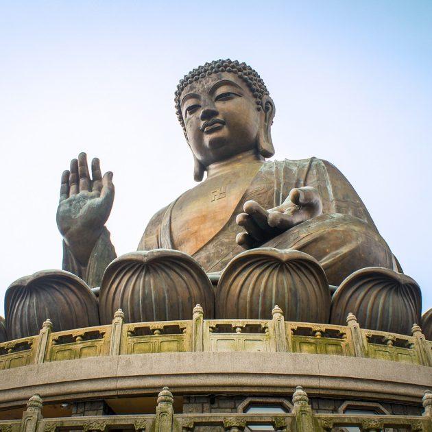 The Sitting Buddha statue of Hong Kong