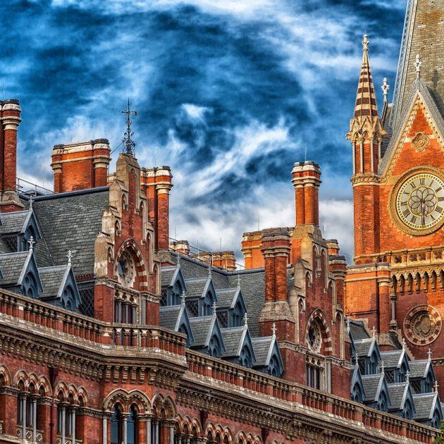 A clock in London