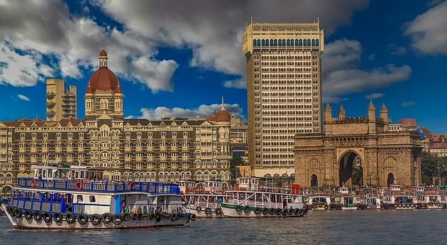 a picture of the Taj in Mumbai