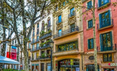 Colorful building in Barcelona