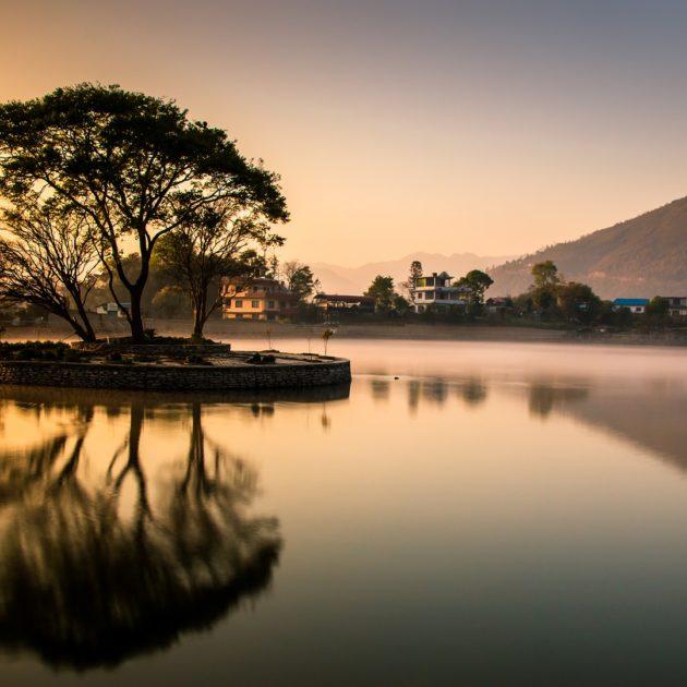 A clear lake in Nepal