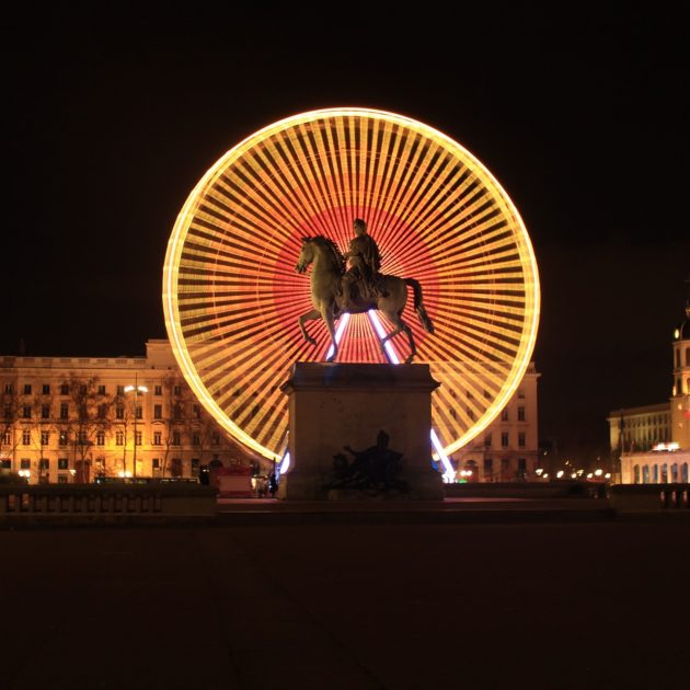 a Ferris wheel in Lyon