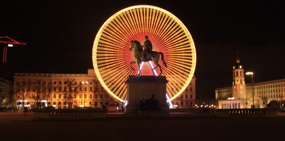 a Ferris wheel in Lyon