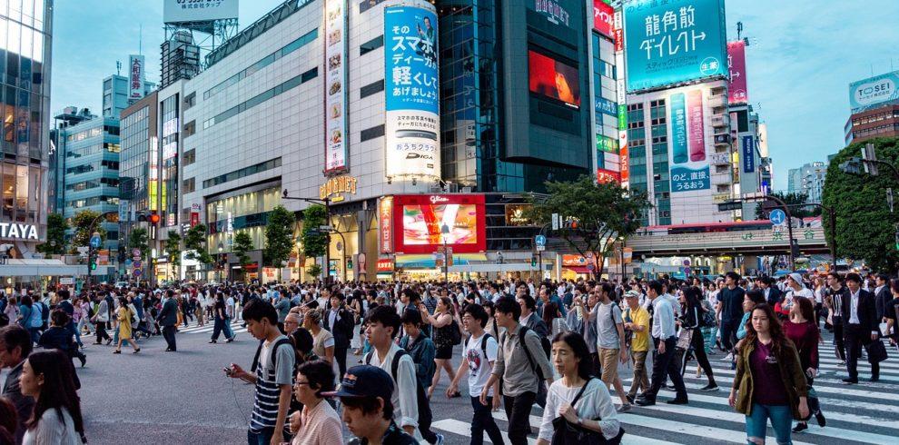 People crossing on a street in Tokyo
