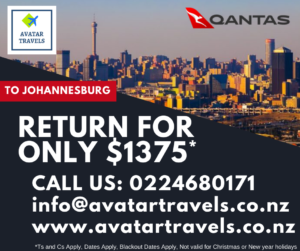 Qantas Special to Johannesburg for 1375 NZD